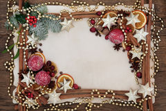 Frontera festiva de la Navidad Foto de archivo