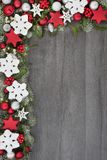 Frontera festiva del fondo de la Navidad imagen de archivo