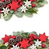 Frontera festiva del fondo de la Navidad imagen de archivo libre de regalías