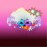 Frontera floral Foto de archivo libre de regalías