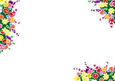 Frontera floral Imagen de archivo