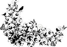 Frontera floral abstracta libre illustration