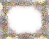 Frontera floral de la boda Imágenes de archivo libres de regalías