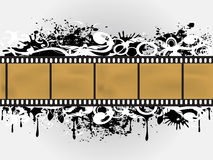 Frontera floral de la película de Grunge Foto de archivo libre de regalías