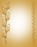 Frontera floral de oro de las colas de gato Fotografía de archivo libre de regalías