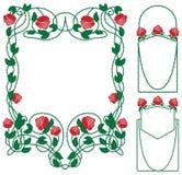Frontera floral de Rose Imágenes de archivo libres de regalías