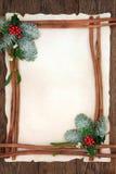 Frontera floral del fondo de la Navidad Imagen de archivo