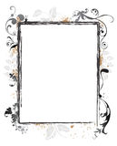 Frontera floral del marco de Swirly Grunge Foto de archivo libre de regalías