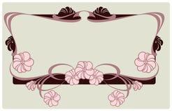 Frontera floral del vector Foto de archivo libre de regalías