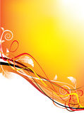 Frontera floral del vector horizontal Imagen de archivo