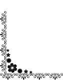 Frontera floral negra decorativa imagenes de archivo