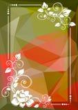 Frontera floral roja verde ilustración del vector