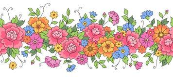 Frontera floral rosada Imagen de archivo libre de regalías
