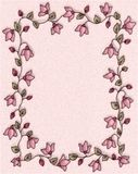 Frontera floral rosada del marco de la foto stock de ilustración