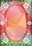 Frontera floral rosada verde libre illustration