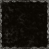 Frontera floral sucia negra Imagenes de archivo