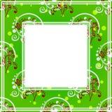 Frontera floral verde ilustración del vector