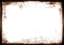Frontera fotográfica quemada sepia del borde Fotografía de archivo