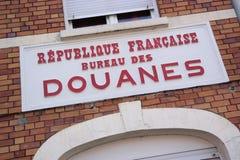 Frontera francesa Imagen de archivo libre de regalías