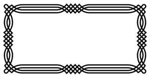 Frontera geométrica céltica Imágenes de archivo libres de regalías