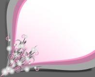 Frontera gris y rosada Imagen de archivo