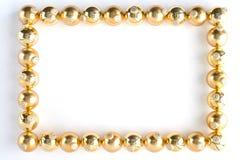 Frontera hecha de las chucherías del oro imagen de archivo libre de regalías