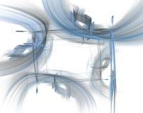 Frontera - hojas azules Fotografía de archivo libre de regalías