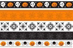 Frontera inconsútil de Halloween Ilustración del vector Fotos de archivo