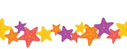 Frontera inconsútil de las estrellas de mar coloridas del vector libre illustration
