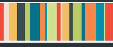 Frontera inconsútil de las rayas coloridas del vector libre illustration