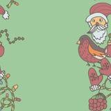 Frontera inconsútil del Año Nuevo Plantilla sin fin de la Navidad Fotos de archivo libres de regalías