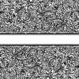 Frontera inconsútil del doodle Fotografía de archivo libre de regalías