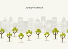 Frontera inconsútil del paisaje urbano de Park City Imágenes de archivo libres de regalías