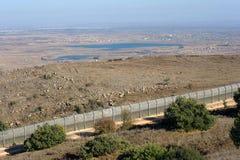 Frontera Israel-Siria Foto de archivo