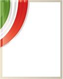 Frontera italiana de la onda de la bandera con el espacio en blanco para el texto Fotografía de archivo libre de regalías