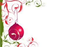 Frontera izquierda de la Navidad fotos de archivo libres de regalías