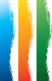 Frontera lateral sucia colorida Imagenes de archivo