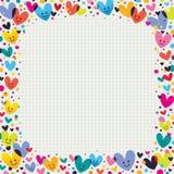 Frontera linda de los corazones Imagen de archivo libre de regalías