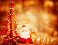 Frontera linda de Papá Noel Imagen de archivo libre de regalías