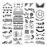 Frontera malaya islámica del diseño floral Imagen de archivo libre de regalías