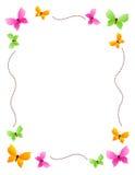 Frontera/marco de la mariposa ilustración del vector