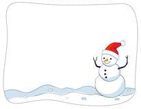 Frontera/marco del muñeco de nieve Imágenes de archivo libres de regalías