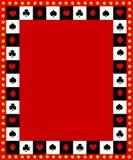 Frontera/marco del póker Fotos de archivo libres de regalías