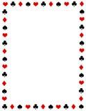 Frontera/marco del póker Foto de archivo libre de regalías