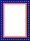 Frontera/marco patrióticos Imagen de archivo libre de regalías