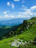 Frontera natural en los Balcanes Imágenes de archivo libres de regalías