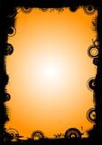 Frontera negra con los círculos 4 Foto de archivo libre de regalías