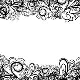 Frontera negra del cordón ilustración del vector
