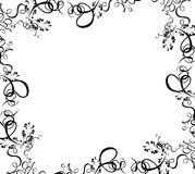Frontera negra del follaje ilustración del vector