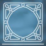 Frontera náutica del knote de la cuerda Fotos de archivo libres de regalías